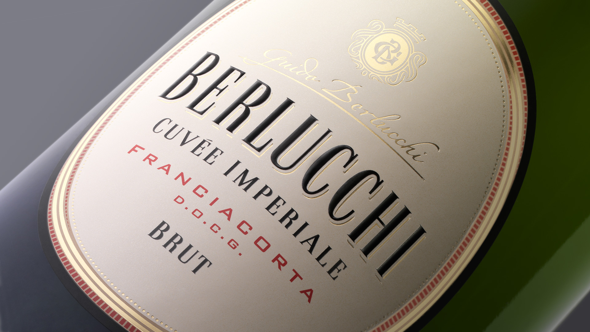 Guido Berlucchi Cuvée Imperiale close-up restyling