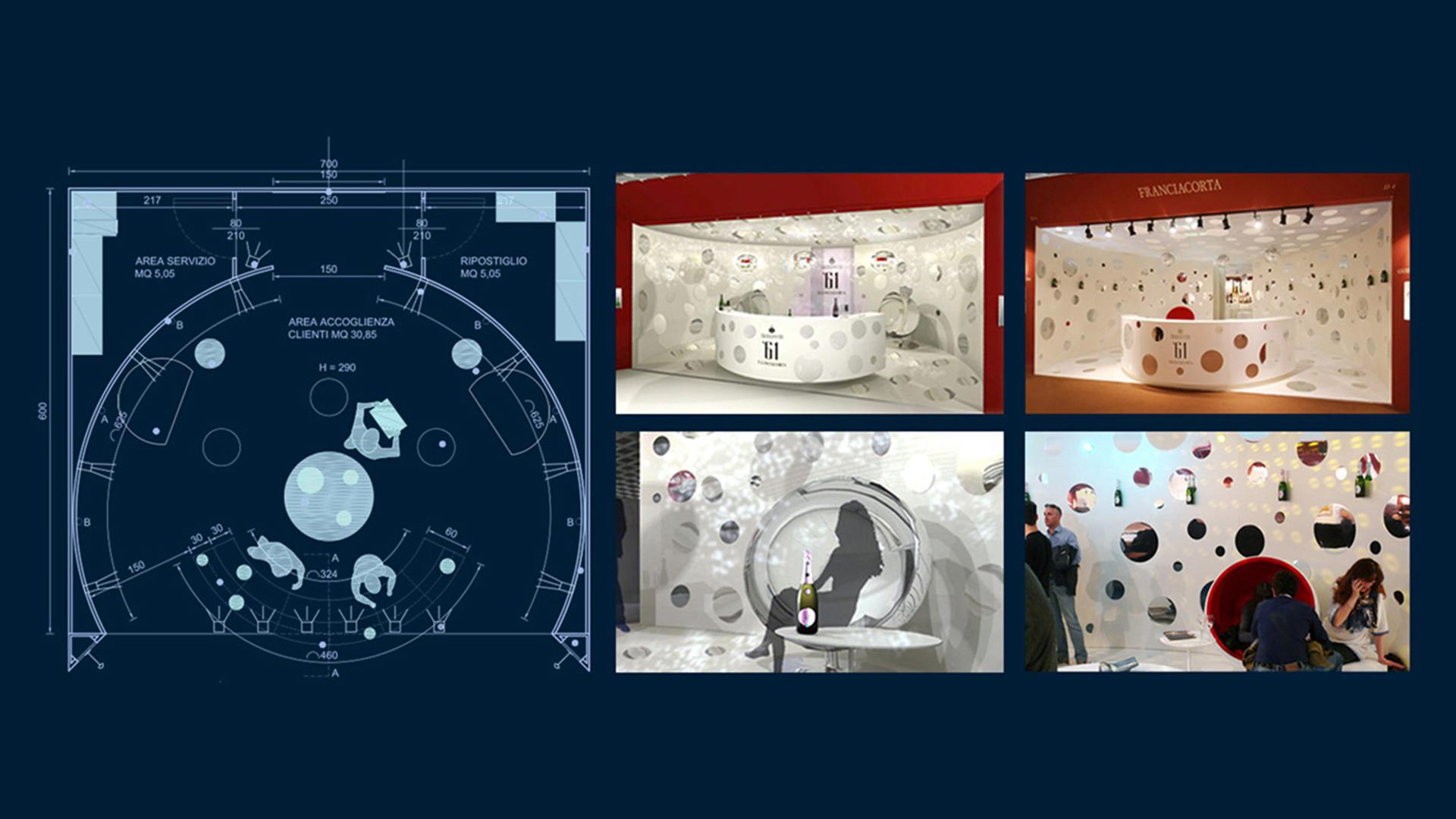 Berlucchi stand global design