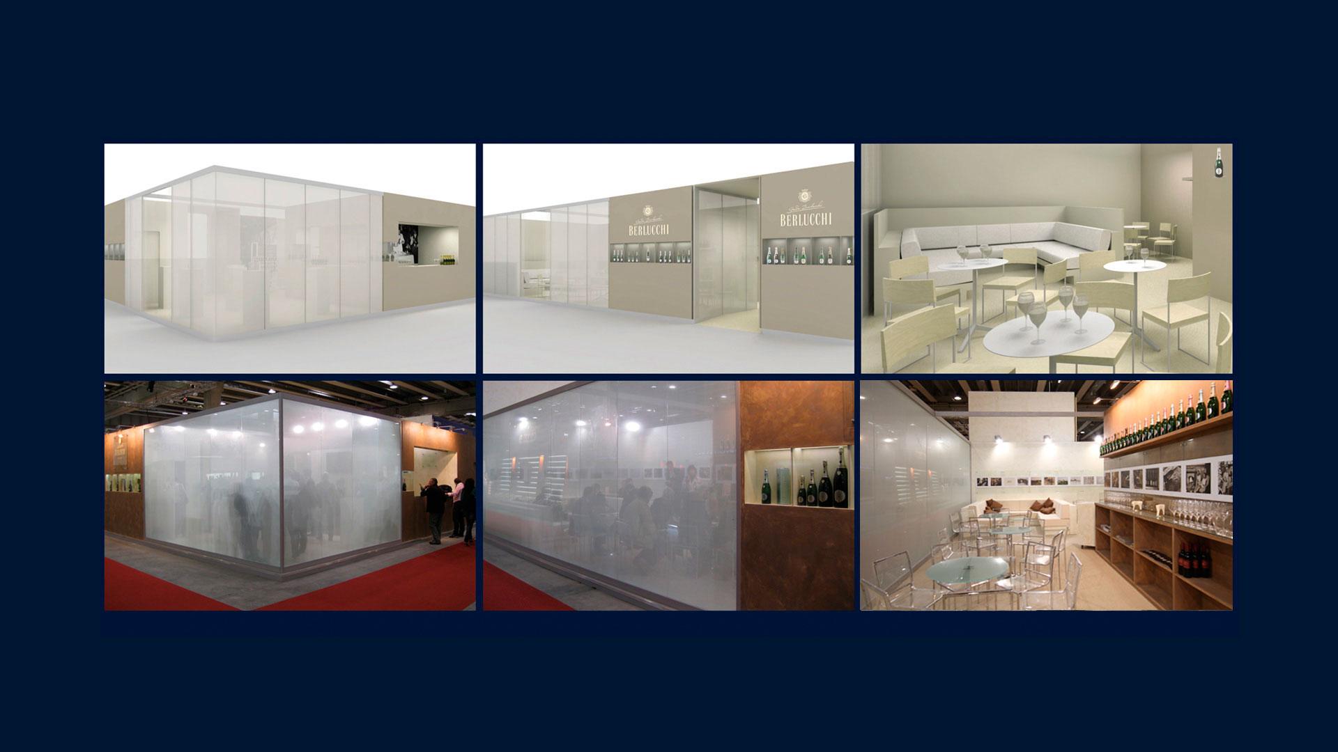 Berlucchi stand istituzionale global design