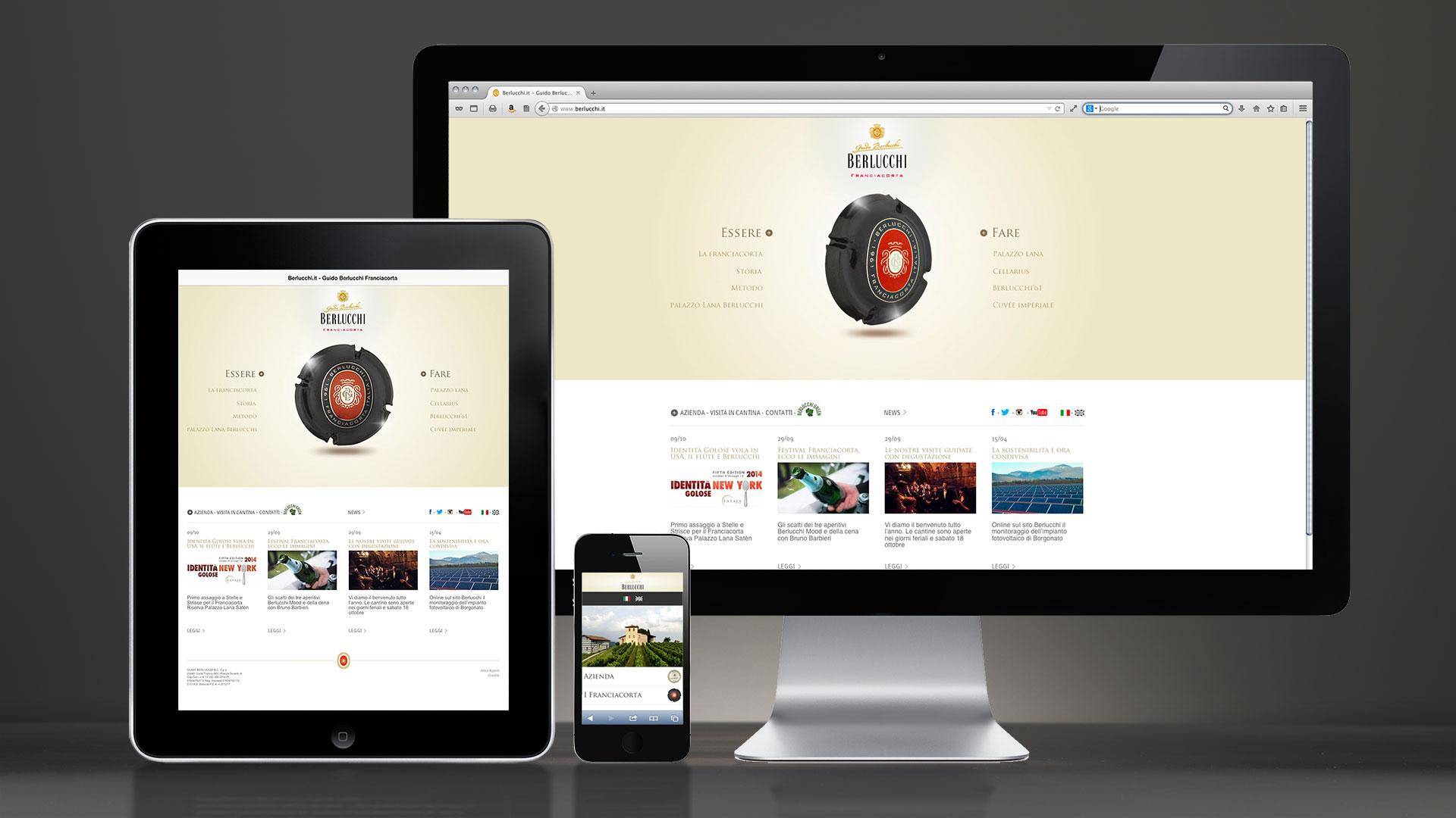 Berlucchi sito web global design