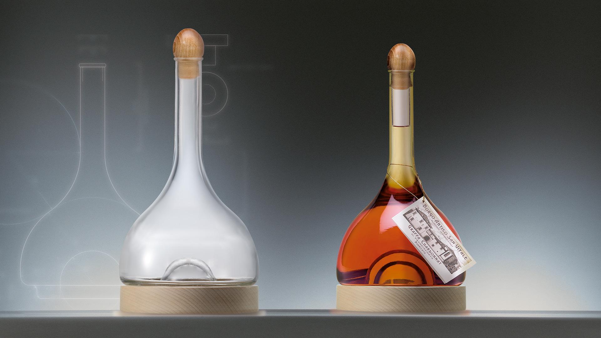 Distillerie Franciacorta Borgo Antico San Vitale bottle design