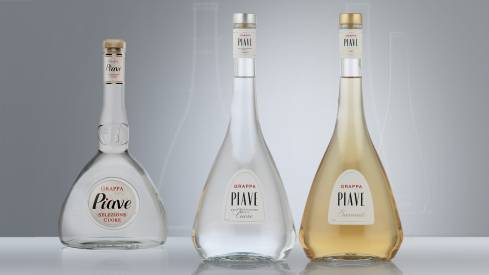Distillerie Franciacorta Piave bottle design