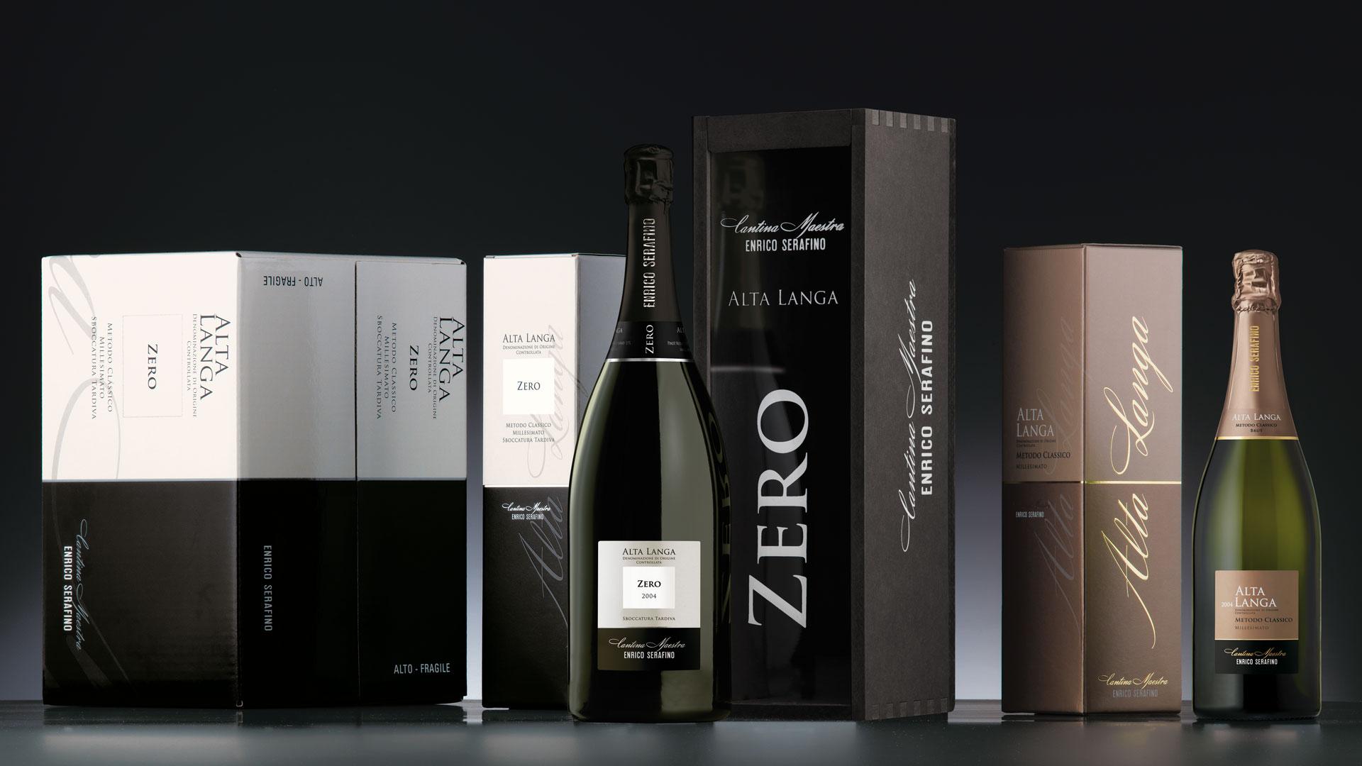 Campari Wines Enrico Serafino packaging Alta Langa