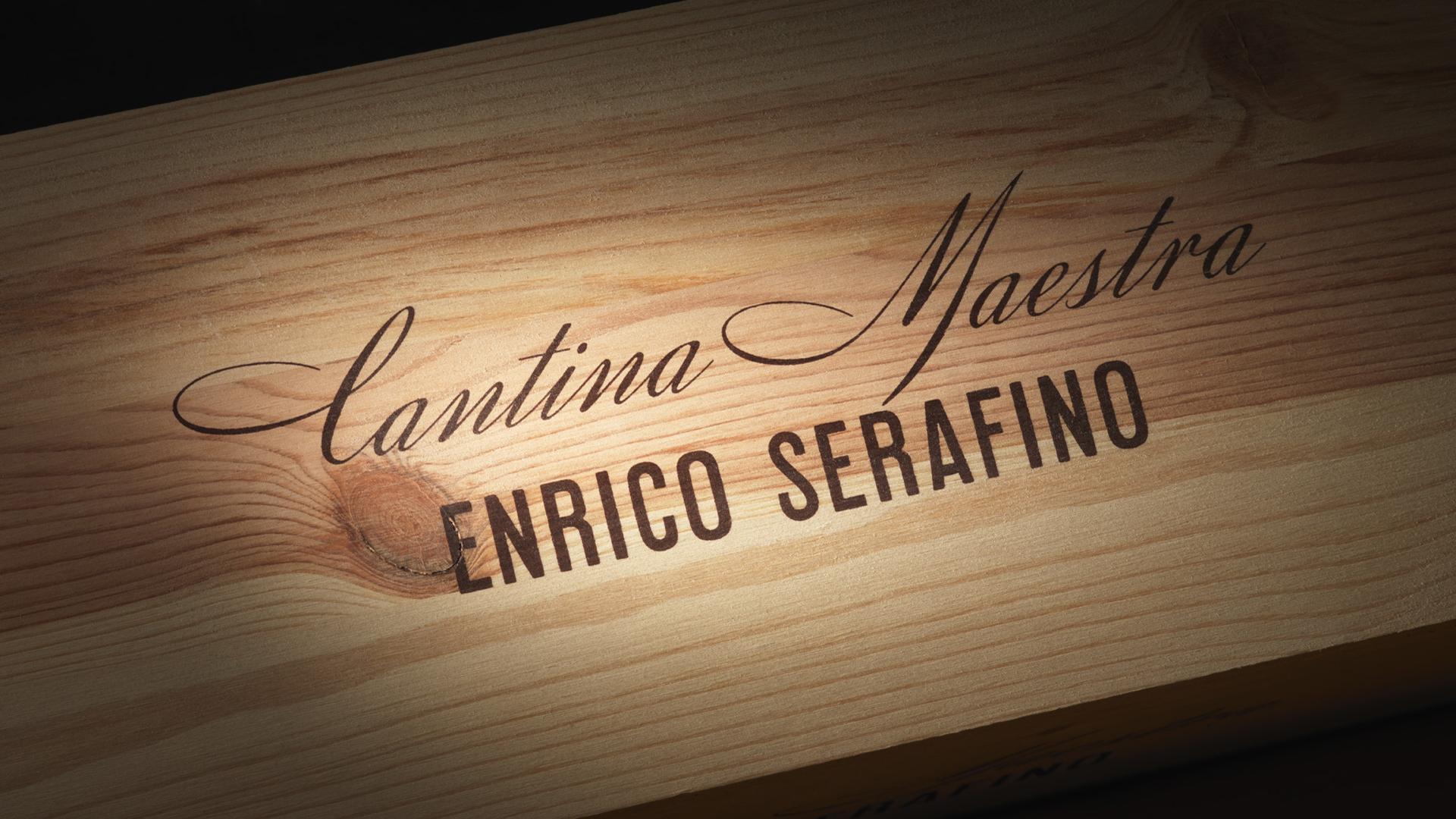 Enrico Serafino Cantina Maestra applicazione brand