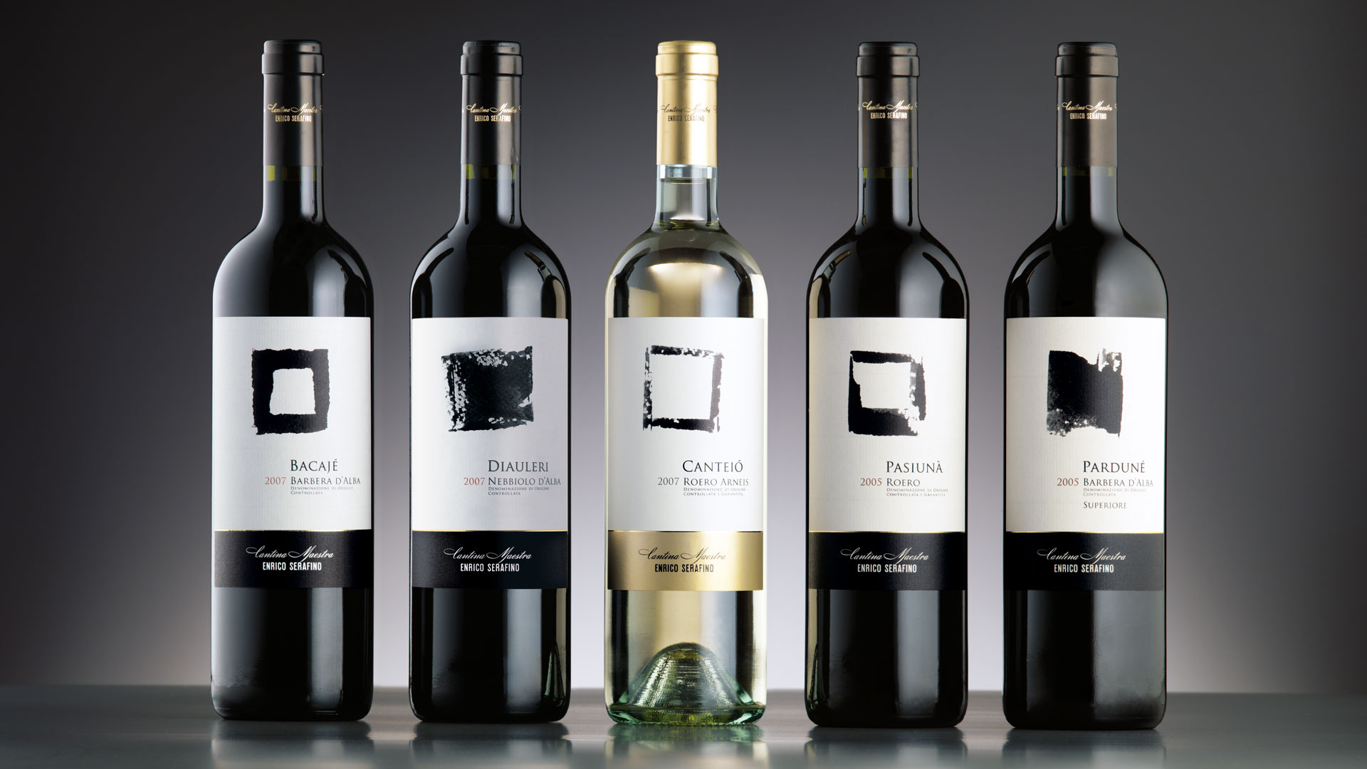 Campari Wines Enrico Serafino packaging Linea Top