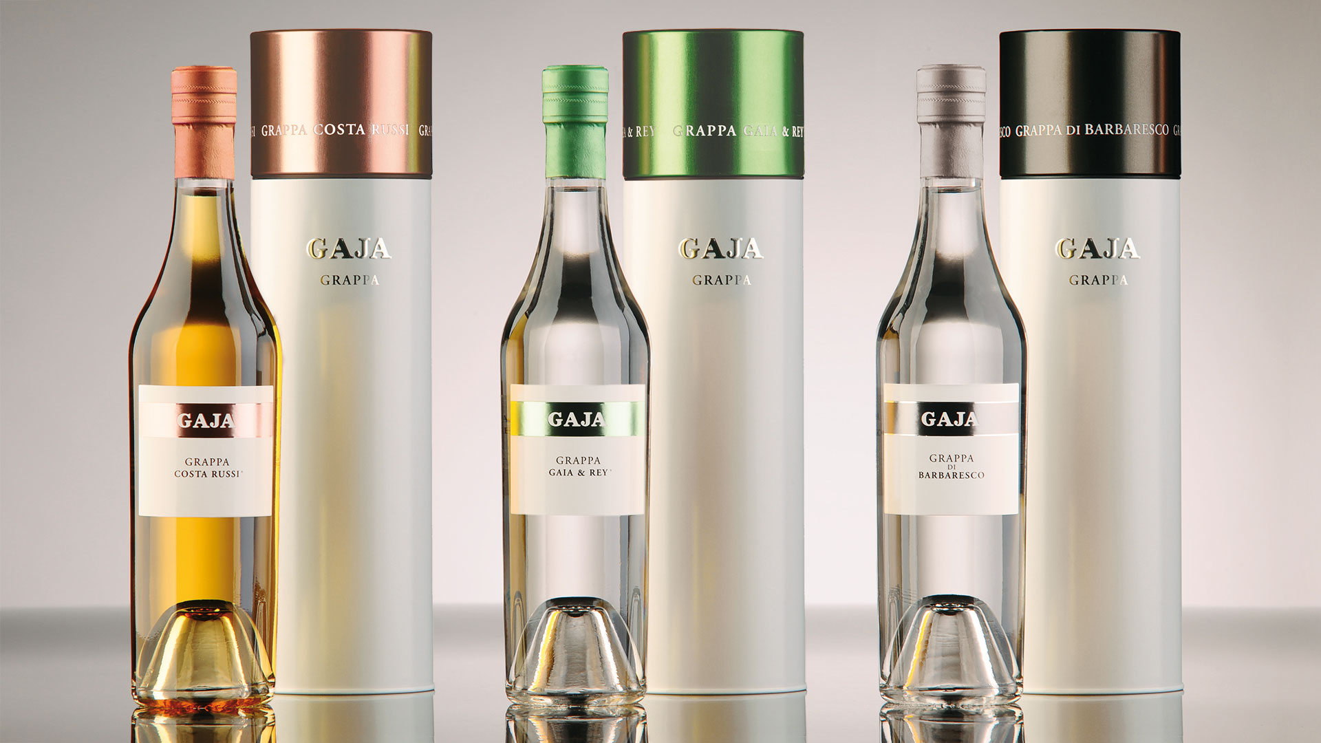 Gaja grappa packaging