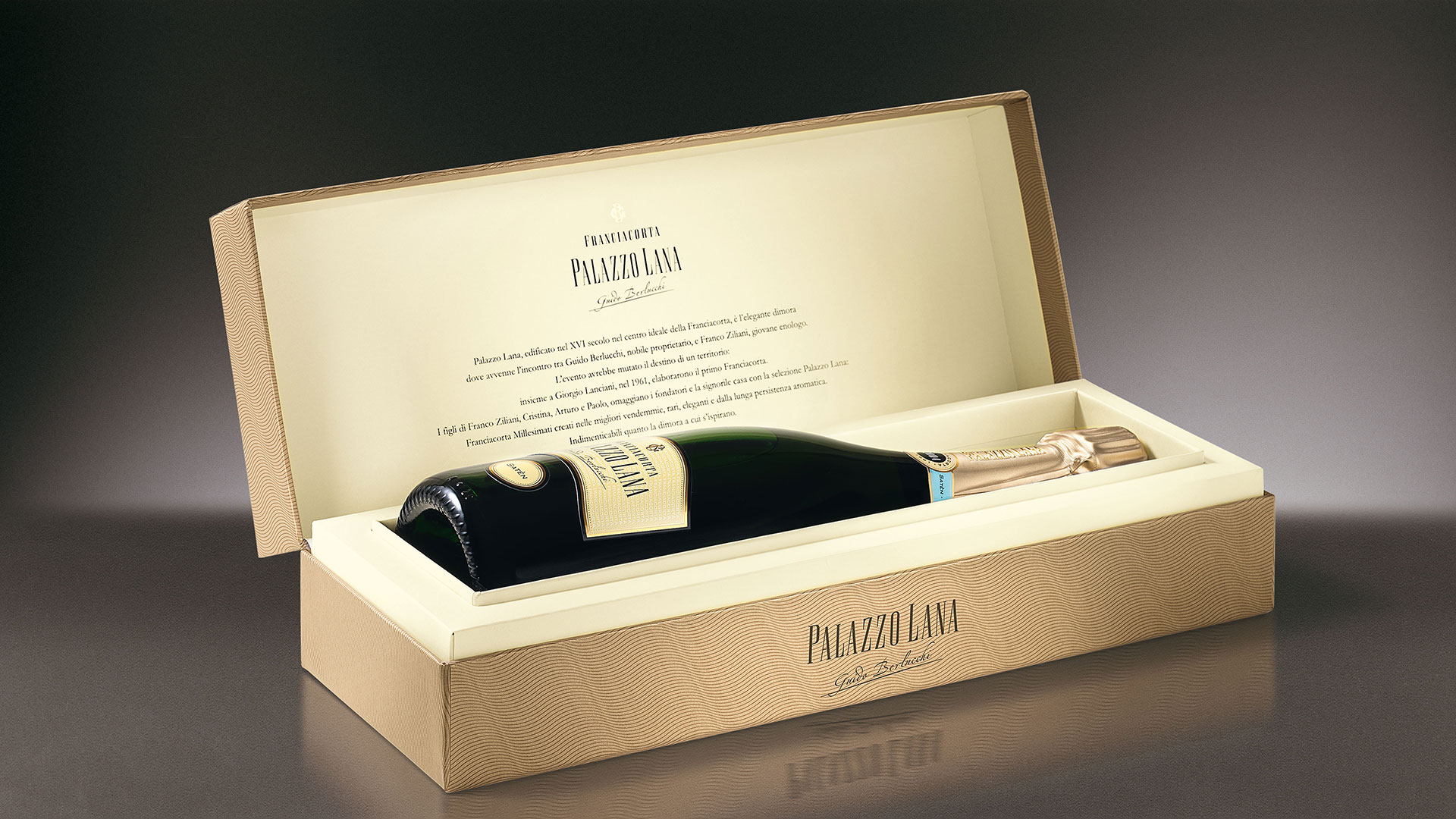 Guido Berlucchi secondary packaging Palazzo Lana