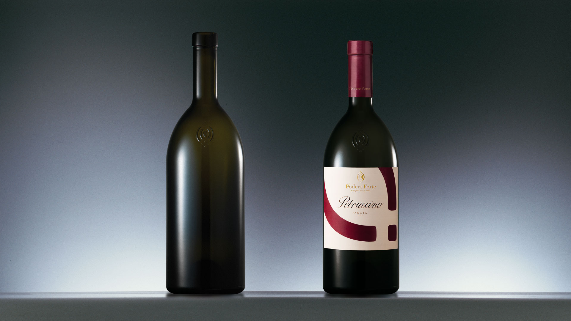 Podere Forte Wine bottle design