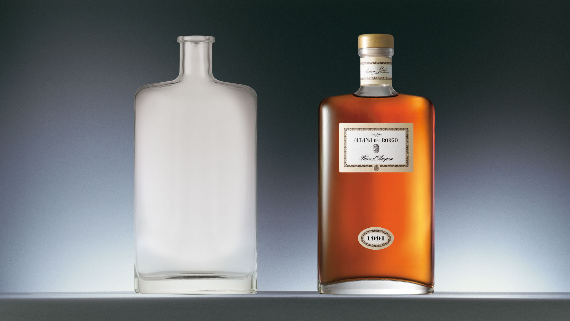 Rossi d'Angera bottle design