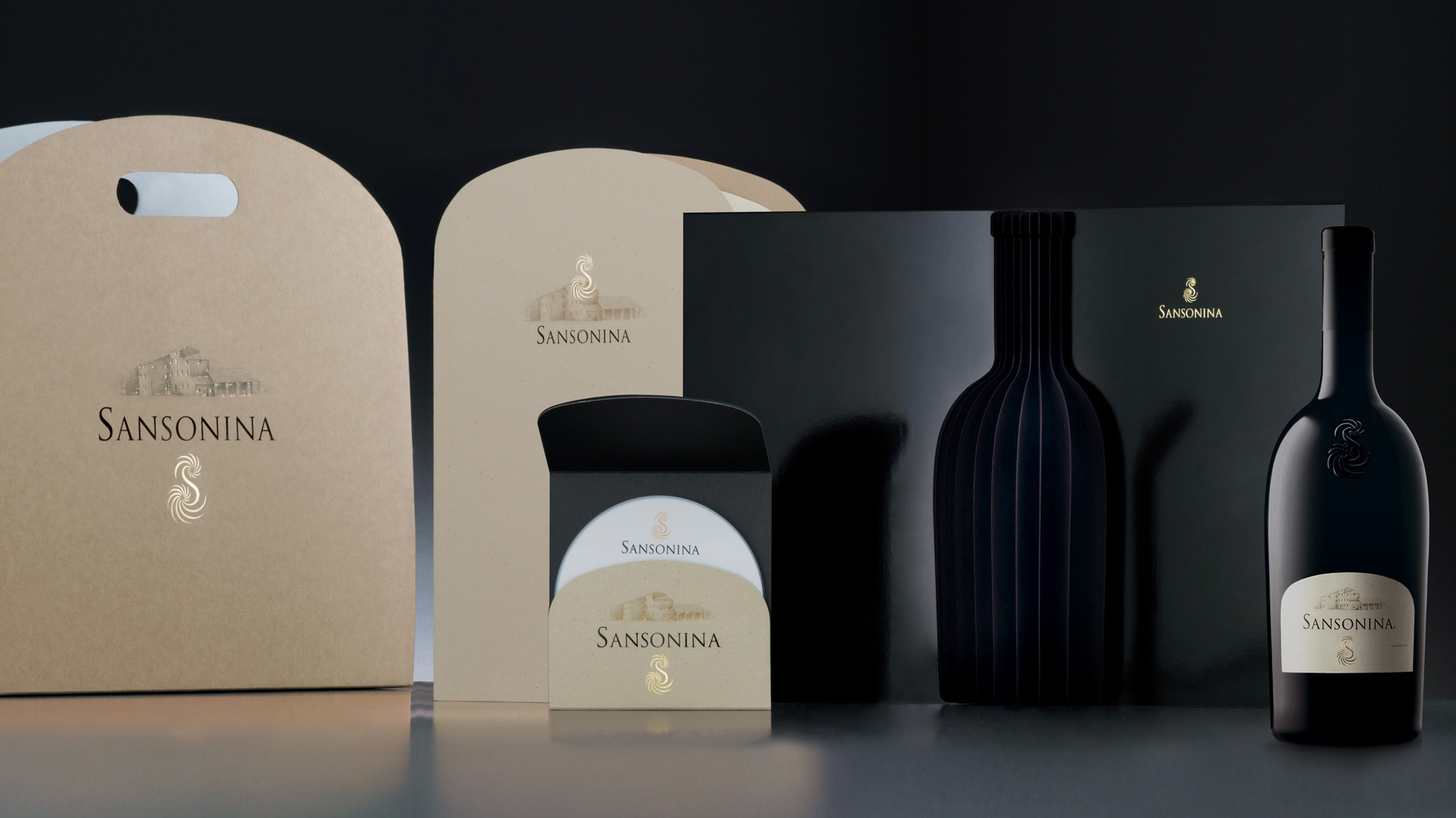 Sansonina coordinati bottle design
