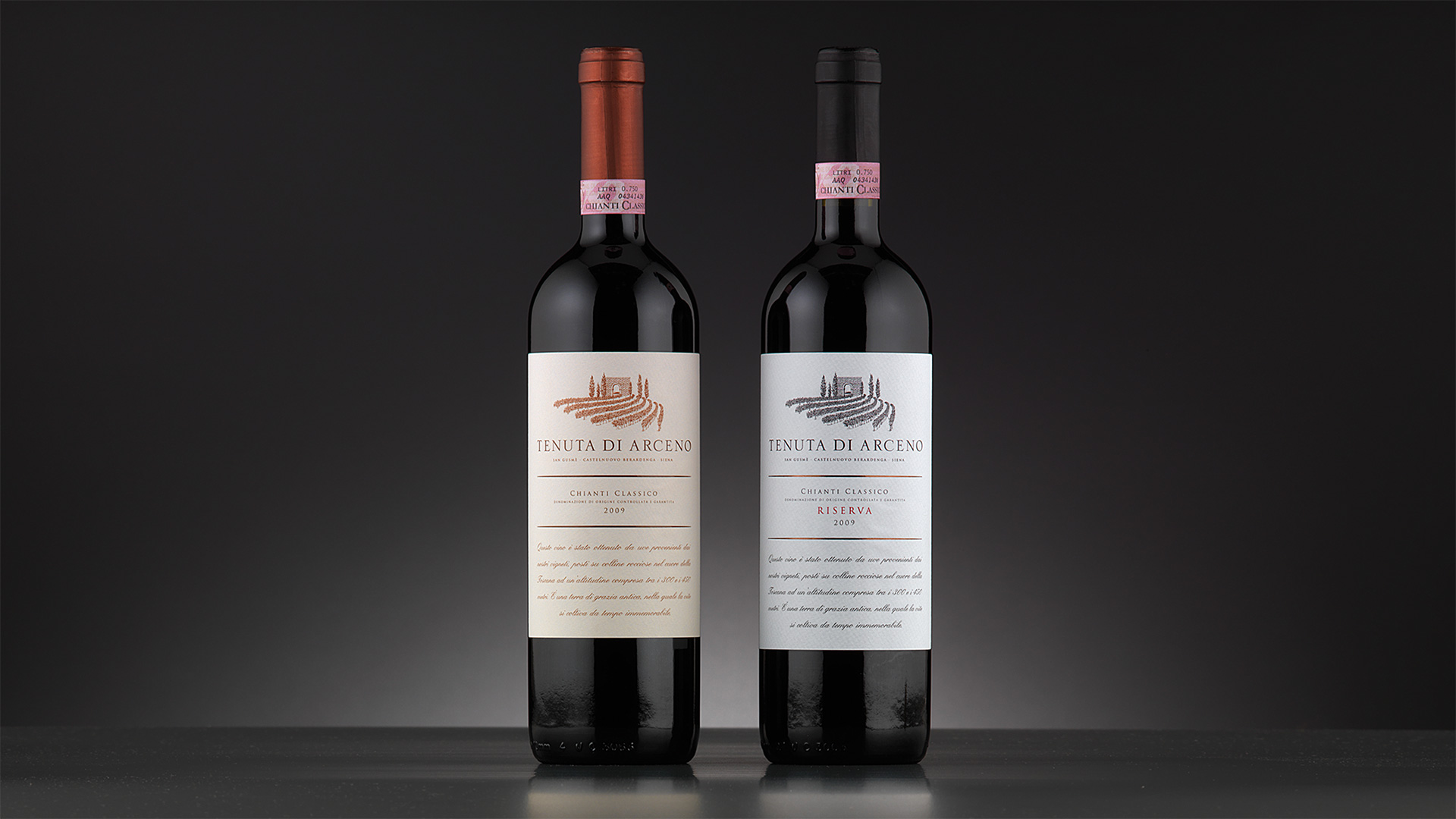 tenuta di Arceno packaging