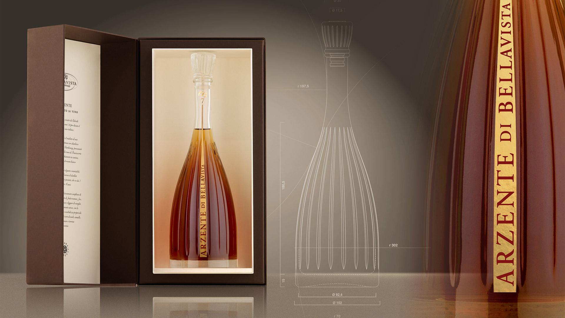 Terra Moretti Arzente bottle design