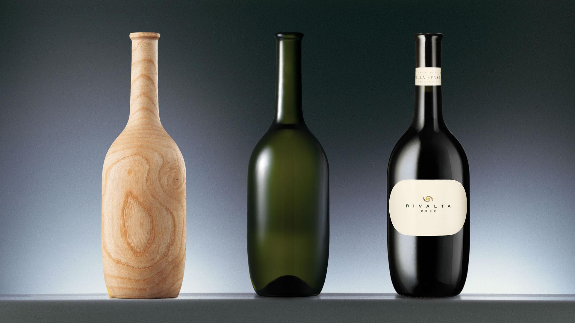 Villa Sparina bottle design