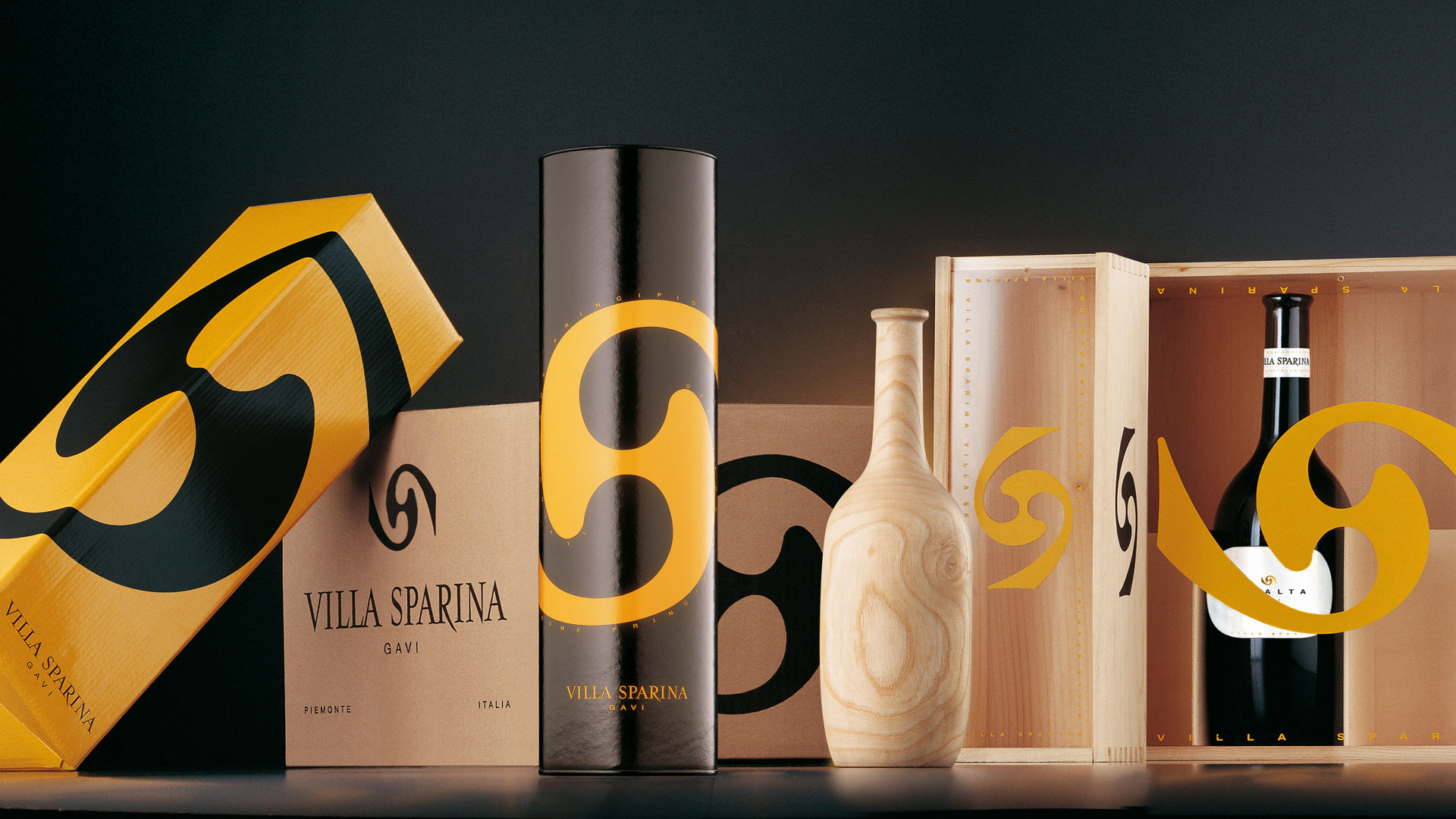Villa Sparina secondary pack global design