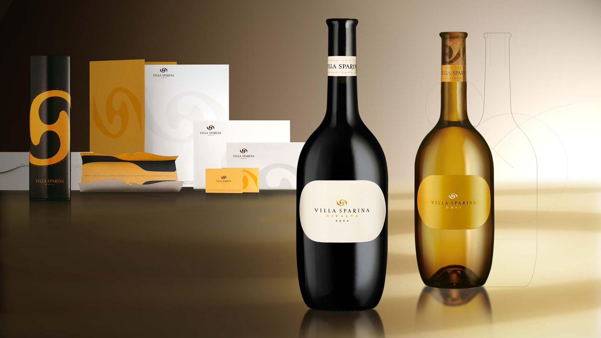 Villa Sparina coordinati e bottle design