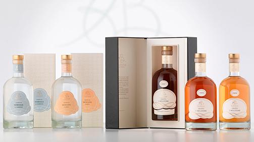 Packaging e confezioni - linea Millesimi e Cru di AB Selezione