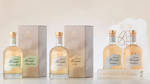 Packaging e secondary packaging - linea Moscato di AB Selezione