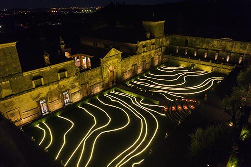 Allestimento luminoso Villa della Torre Allegrini