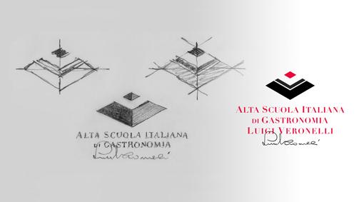 Alta Scuola Italiana di Gastronomia Luigi Veronelli studio logo